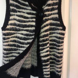 Chico's Sweaters - Zebra print sweater vest